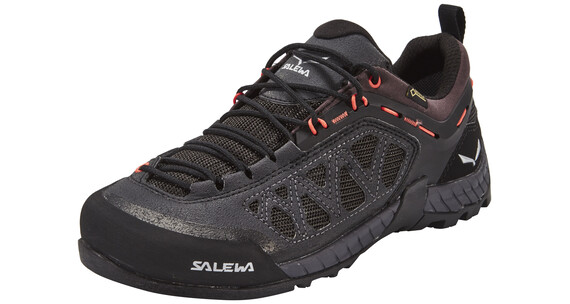 Salewa Firetail 3 GTX Approach Shoes Women black out/hot coral